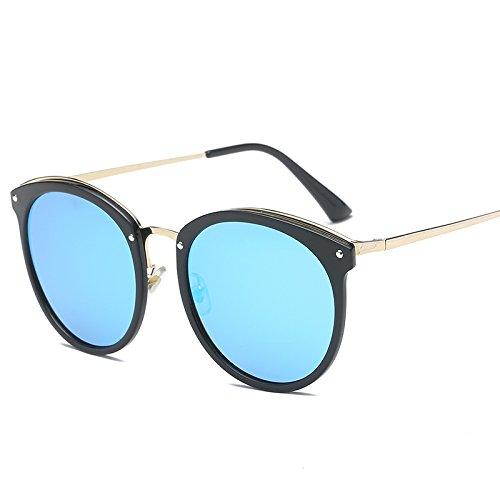 xinhao Sonnenbrille Style Sonnenbrille, Sonnenbrillen, Sonnenbrillen und rundes Gesicht Fahren Gläser, die Black Box der Blue Chip