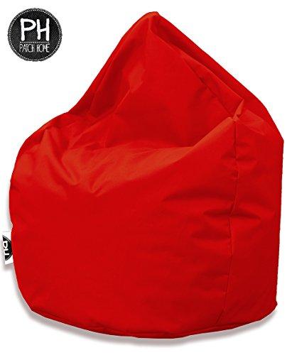 Patchhome Sitzsack Tropfenform Rot für In & Outdoor XL 300 Liter - mit Styropor Füllung in 25 versch. Farben und 3 Größen