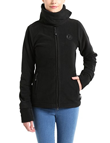 Ultrasport Damen Fleecejacke Marla, schwarz, S, 10381 Beste Fleece-jacken