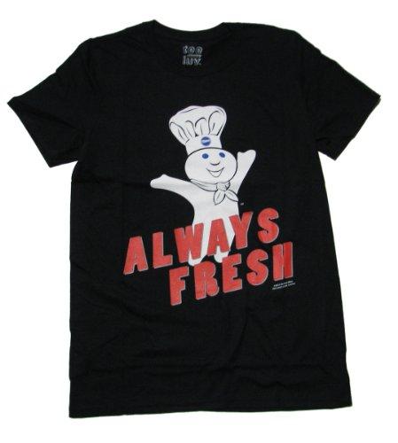 pillsbury-doughboy-t-shirt-avec-inscription-always-fresh-noir-s
