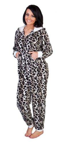 New Ladies animaux Combinaison unisexe en polaire Super douce, grenouillère, Tom Franks Pyjama Argenté - Argent