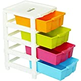Joyful Studio 4 Plastic Modular Drawer System, Multi Colour (Dimension 310 * 390 * 675 MM as per Lable from manufaturer on The Product Packing)