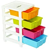 #2: Joyful Studio 4 Plastic Modular Drawer System, Multi Colour (Dimension 310 * 390 * 675 MM as per Lable from manufaturer on The Product Packing)
