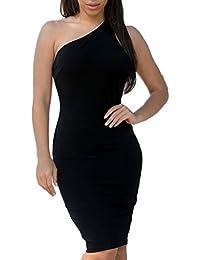 mywy - Abito donna tubino sexy elegante vestitino cerimonia vestito festa  aderente 33616bbe740