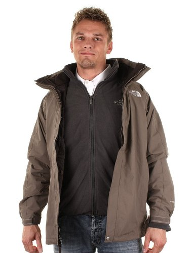The North Face Mens Nadir Triclimate 3 in1 Parka - tuolumne brown