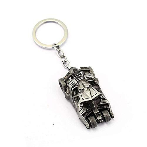 Caddle&toes Batman Begins Muscle Car Silver Keyring & Keychain | Key Ring for Car Bike Home Keys | Key Chain for Kids Men Women Boys Girls
