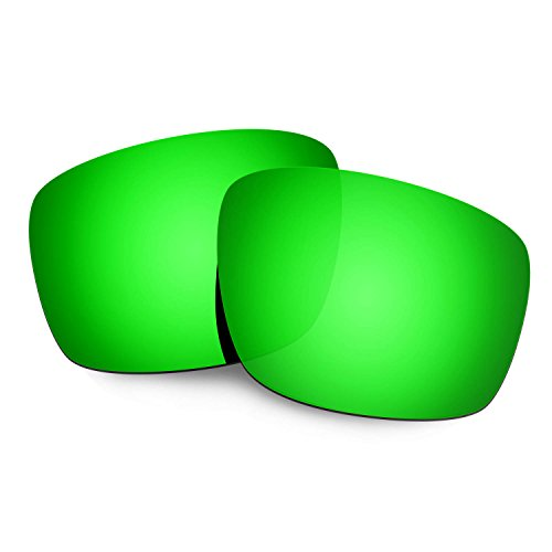 HKUCO Mens Replacement Lenses For Oakley Mainlink Sunglasses Emerald Green Polarized