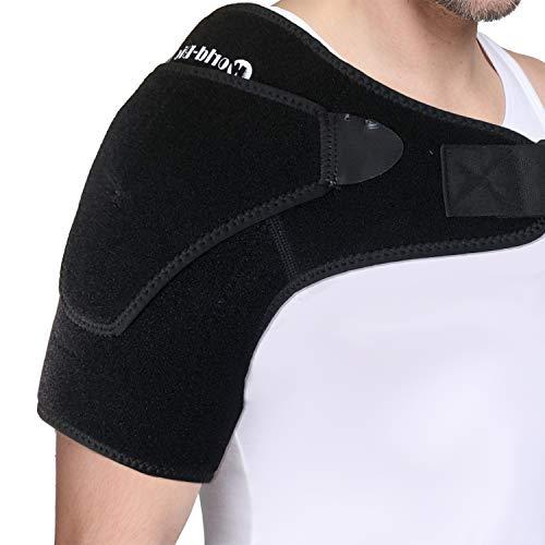 Confezione di gel per spalla con tutore - Terapia a freddo caldo per tendiniti, articolazione lussata, cuffia dei rotatori sinistra e destra