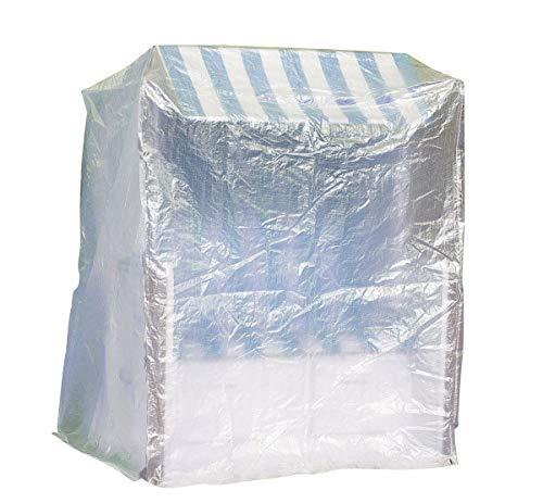Fachhandel Plus Komfort Schutzhülle XXL Abdeckung für Strandkorb B130xT108xH165 cm transparent