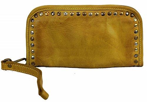 BZNA Berlin Romy gelb Wallet sheep Leather Leder Portemonnaie Geldbörse Neu