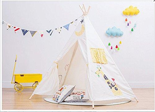play-tente-shayson-kids-haute-qualit-toile-indienne-tipi-avec-windows-playhouse-broderie-girafe-par-