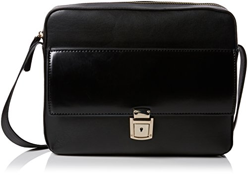 french-connection-womens-clean-pu-caroli-crossbody-cross-body-bag-black
