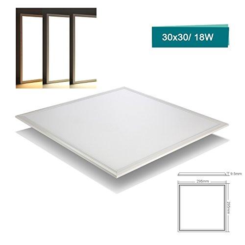 OUBO LED Panel Deckenleuchte 30x30cm Wandleuchte Neutralweiß 4000K, 18W, 1800 lumen, LED Lampe Ultraslim Einbauleuchte mit weißrahmen