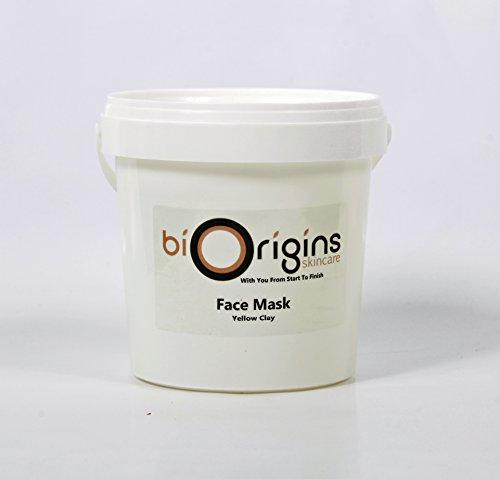 Máscara–amarillo arcilla Botanical para el cuidado de la piel–Base–1kg