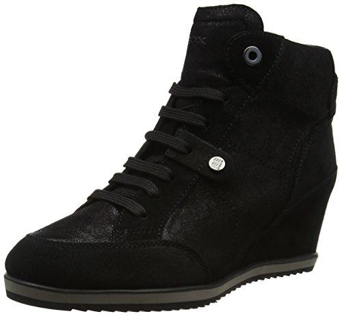 Geox Damen D Illusion A Hohe Sneaker, Schwarz (Black), 39 EU