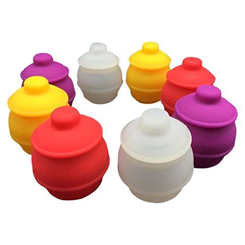 Gentcy, contenitore in cera a base di silicone, 35ml, adatto a contenere miele, marmellata, Silicone, multicolour, 35ML