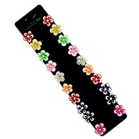 Yantu Girls Infant Toddler Colorful Blossom Hair Pin Flower Bobby Pin Kids Hair Clips 10 Pairs Packing