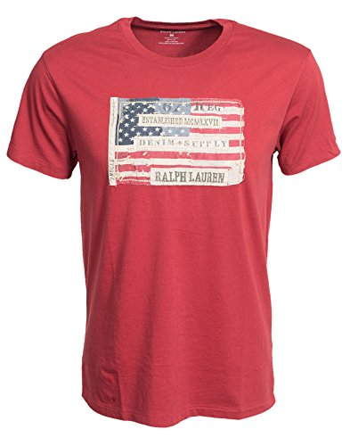 Denim & Supply Ralph Lauren Herren SS Crew Nacken T-Shirt Red Small