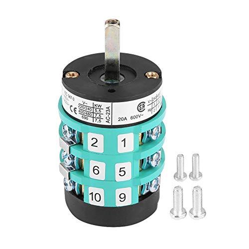 Outbit Vorwärts-Rückwärts-Schalter - 1 PC mit 220V / 380V-Reifenwechsler Maschine Vorwärts-Rückwärts-Schalter, Turn Table Pedal Switch 20A. (A und B) (Größe : A)