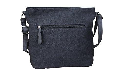 Damen Stern Handtasche Schultasche Clutch TOP TREND Tragetasche M1 Schwarz