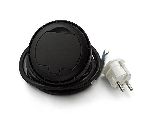 Thebo 17086.8enchufe empotrable con tapa USB, Negro