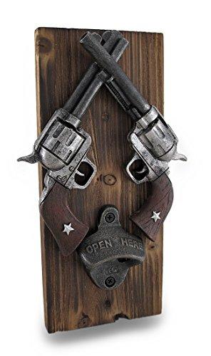 Western gekreuzte Revolver Wand montiert Flaschenöffner (Revolver Flaschenöffner)