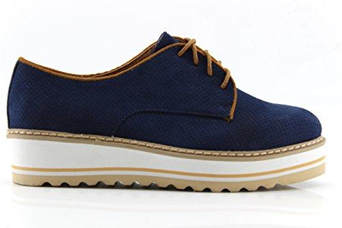 Modelisa - Blucher Cordon mujer (37, Azul)