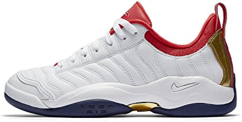 Nike AIR OSCILLATE mens fashion-sneakers 140370, White/Metallic Gold-binary Blue, 45.5 D(M) EU/10.5 D(M) UK