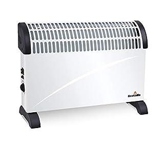 Sytech Calefactor Eléctrico Convector 2000W con termostato Regulable, Blanco