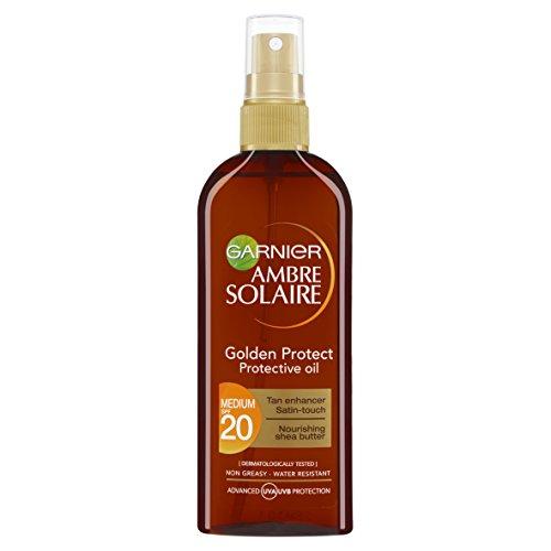 Garnier ambre solaire - Medio, factor de protección solar 20 golden proteger broncear aceite 150 m