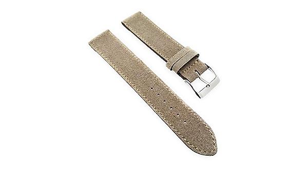 Uhrenarmband Kunstleder Edelstahl Dornschließe 14mm Federstege Neu Nr.109