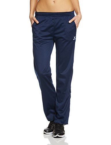 erima Damen Polyesterhose Shooter, new navy/weiß, 40, 110137 (Weiße Trainingshose Damen)
