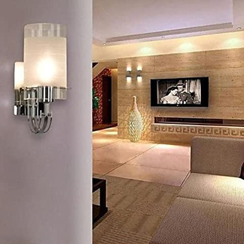 40W-Lampada da parete in stile moderno, con cilindro vetro acidato
