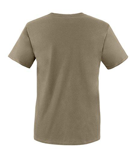 Luckja Mein Kostüm ist in der Wäsche Herren Rundhals T-Shirt Oliv/Weiß