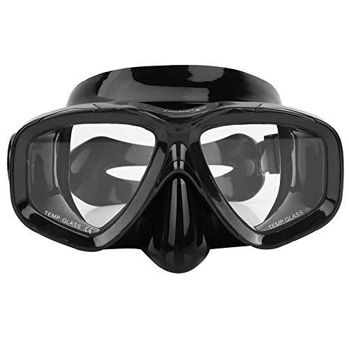 SolUptanisu Erwachsener Taucherbrille, Taucherbrille mit Antibeschlag und UV-Schutz, Schnorchelmaske Rahmenlose Maske zum Tauchen und Schnorcheln (Schwarz) -