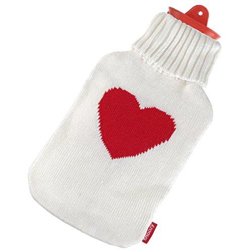 Original Snoozy Wärmflasche 2 Liter + kuscheliger Herz Bezug (15 Motive)