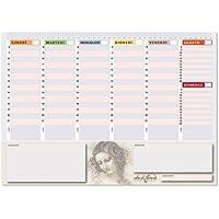 Planner settimanale 42x30 - agenda planner da tavolo perpetua - Leda