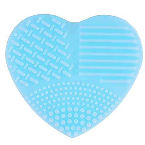 1Pcs Mini Make Up Brushes Cleaner Heart-Shape Cleaning Makeup Washing Brush Mat silicone Clean Scrubber Board