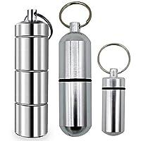 [3er Pack] 3Größe Aluminium Legierung Kammer Schlüsselanhänger Pille Halter/Behälter für Damen & Herren ~ mit... preisvergleich bei billige-tabletten.eu