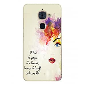 Happoz Letv LeEco Le 2 Cases Back Cover Mobile Pouches Shell Hard Plastic Graphic Armour Premium Printed Designer Cartoon Girl 3D Funky Fancy Slim Graffiti Imported Cute Colurful Stylish Boys D223