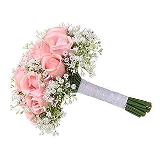 Ramos de boda místicos, Ramos de boda para novias, damas de honor Artificial Rose Posy Flores Rose Petal DIY Decoración
