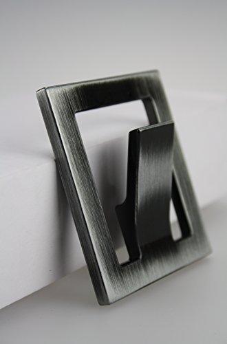 Kleiderhaken Garderobenhaken Huthaken aus Metall in verschiedenen Ausführungen (Nickel schwarz poliert) -
