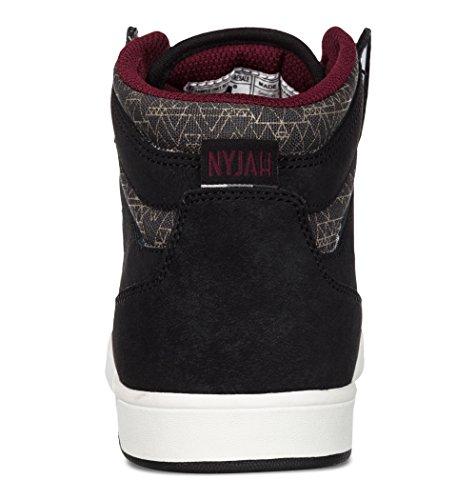 DC NYJAH HIGH Damen Hohe Sneakers Schwarz (BLACK/ANTHRACITE - BKA)