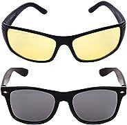 Criba Gradient Aviator Unisex Sunglasses - (nd yl+pknk_CRLK03|40|Black Color Lens)