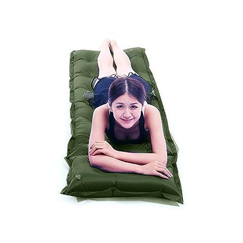 Self Inflating Camping Mattress Sleeping Pad Map Memory Foam Bed