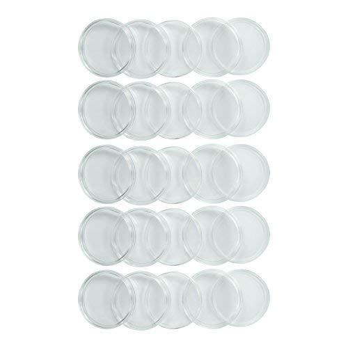 Houseables Münzhalter Silver Eagle Protector 40 mm 25 Stück Kunststoff klar Air Tite Dollar Münzen Kapseln Amerikanische Sammler Koffer Sammelzubehör Tight Treasures Aufbewahrungsbehälter -