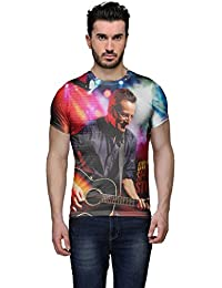 Wear Your Mind Multi-Coloured Poly Cotton Round Neck Printed T-shirt For Men CST045