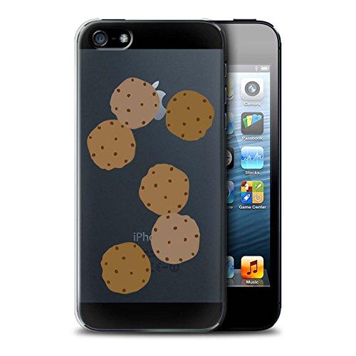 Stuff4 Hülle / Case für Apple iPhone 5/5S / Pizza Muster / Stück Lebensmittel Kollektion Schokoladenkekse