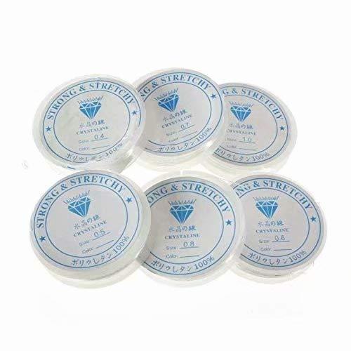 Doyime 10 Angelschnur-Rollen Solider elastischer Kristall-Stretchdraht, 0,8 mm, 8 m pro Rolle