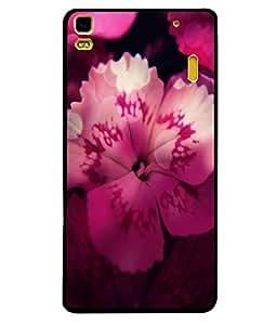 Fuson 2D Printed Flower Designer back case cover for Lenovo A7000 - D4496